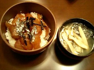 グレ丼(メジナ丼)