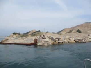 西島の採石場の釣り場