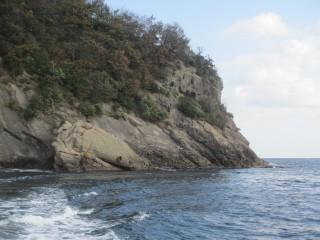沖から見た毛島11番です.