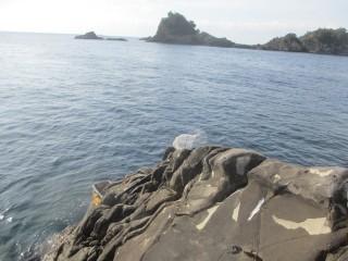 崖を超えたところの釣り座