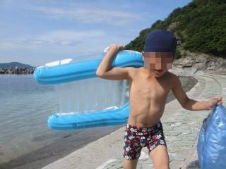 釣りの後は海水浴!