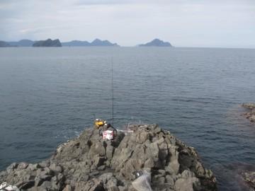 灯台下の釣り座